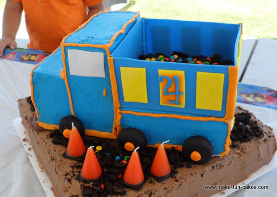 Free Dump Truck Birthday Cake Instructions With Photos