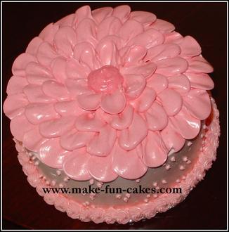 Simple Flower Birthday Cake