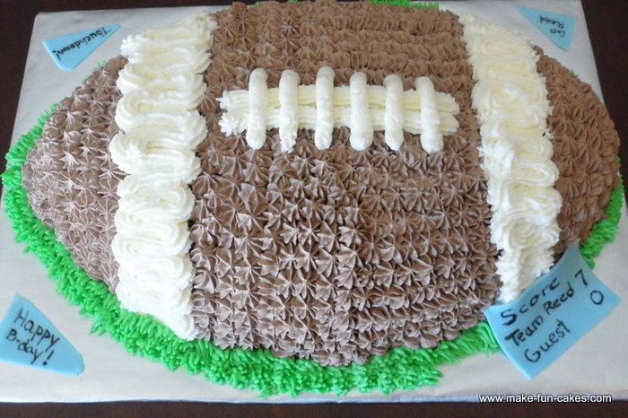 Easy Football Birthday Cake
