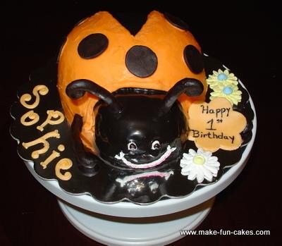 Swell Easy Adorable Ladybug Birthday Cake Personalised Birthday Cards Veneteletsinfo