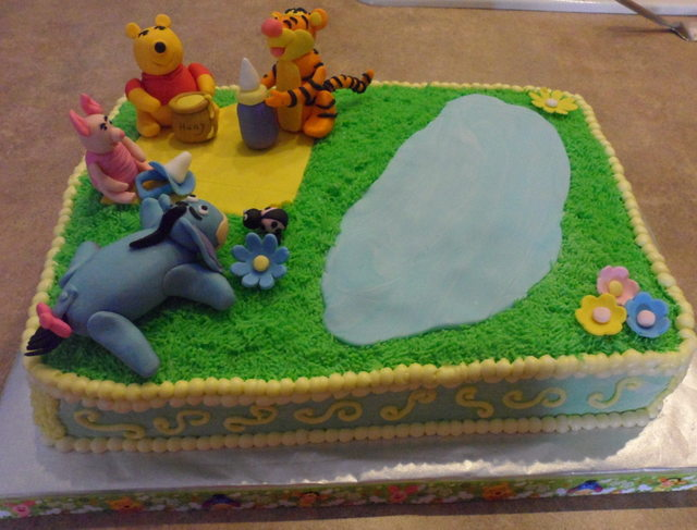 Image Result For Winnie The Pooh First Birthday Cake Topper