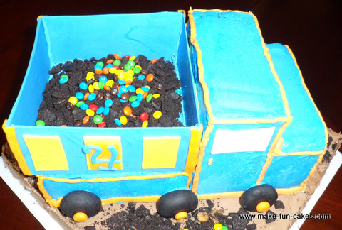 Groovy Free Dump Truck Birthday Cake Instructions With Photos Funny Birthday Cards Online Elaedamsfinfo