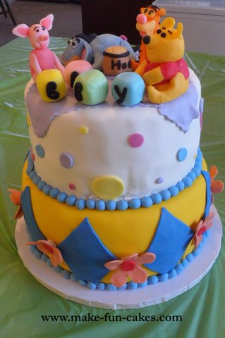 Winnie The Pooh Cake For A Baby Shower